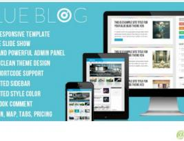 Blue Blog Awesome WordPress Theme Specially For Creative Needs