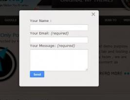Create modal window popup contact form to blogger