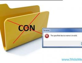 "How to Create Folder ""CON"",""AUX"" or ""NUL"""