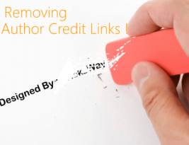 Remove credit links from blogger template and stop redirecting
