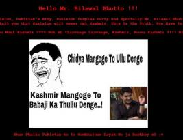 Bilawal Bhutto's Official PPP site hacked and planted the flag of India