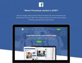 Imagine Facebook Landing Page Design If It's a 2015 Startup