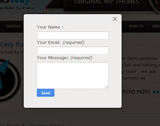 Blogger modal popup contact form