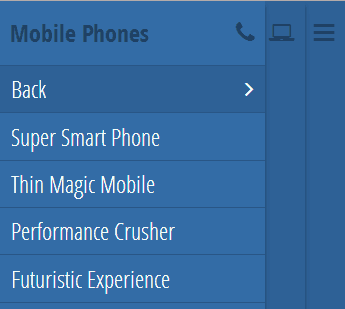 responsive multi level push menu