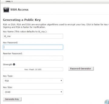 SSH Authentication key