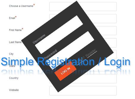 user registration easy setup for wordpress