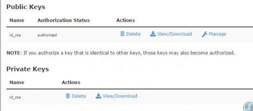 Download SSH private key