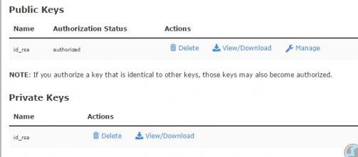 Download SSH private key
