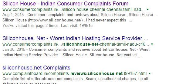 cheated by siliconhouse hosting