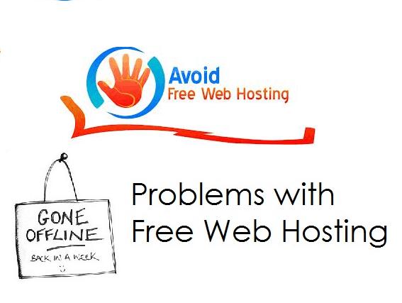 disadvatage of free webhosting