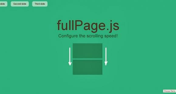 Fullscreen easy scrolling with jQuery