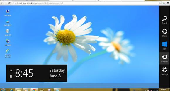 Try Windows 8 Online Without Installing by tricksway.com