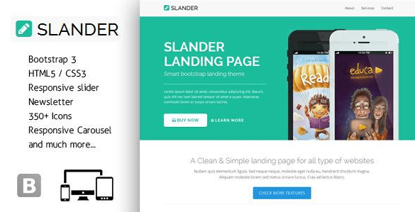 slander responsive html template free