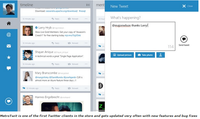 MetroTwit Apps for Windows 8.1