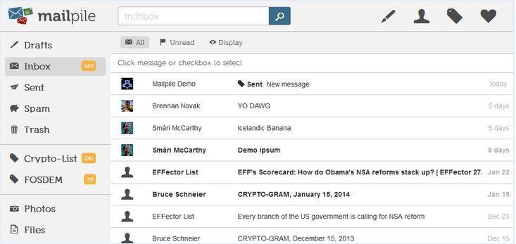 Mailpile email script design