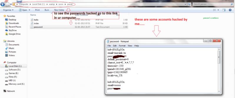 hack account by phishing