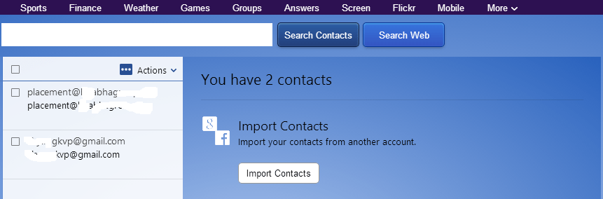 Get email ids of your facebook  friends via yahoo